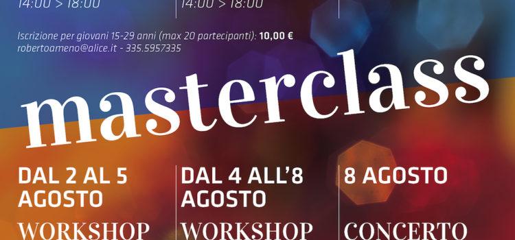 2-8 agosto 2016   Due masterclass e un concerto jazz a Miasino