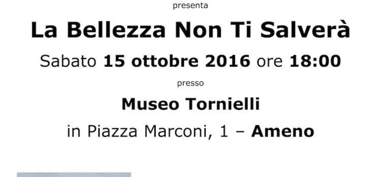 15/10/2016 | Presentazione del libro di Francesca Battistella 'La bellezza non ti salverà'