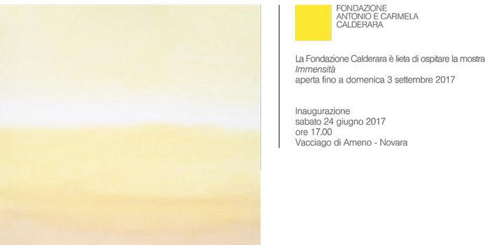 24/06 – 3/09/2017 | IMMENSITÀ, mostra personale di Valentino Vago alla Fondazione Calderara di Vacciago