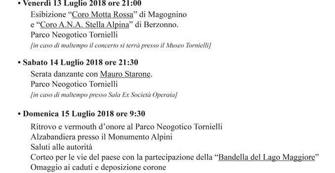 13/07 – 15/07 | Weekend dedicato agli Alpini