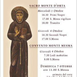 Festa di San Francesco di Assisi al Sacro Monte di Orta