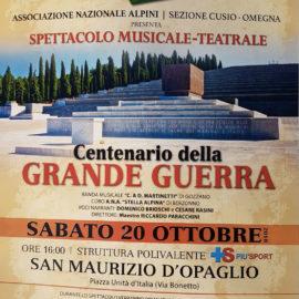 20/10/2018 | Centenario della Grande Guerra, spettacolo musicale-teatrale a S. Maurizio d'Opaglio