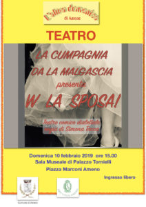 """""""W la sposa"""",  brillante spettacolo teatrale dialettale"""