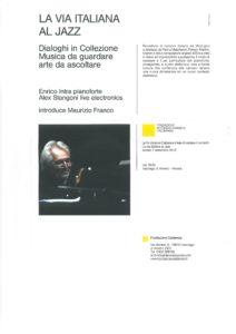 Concerto del pianista Jazz Enrico Intra a Vacciago