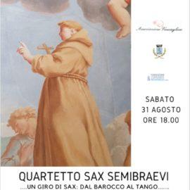 31/08/2019 | Concerto del Quartetto Sax Semibraevi a Vacciago