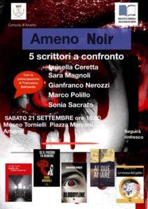 21/09/2019| Ameno Noir: 5 scrittori noir a confronto
