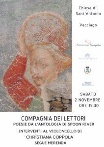 Poesie dall'antologia di Spoon River nella chiesa di Sant'Antonio