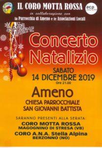 Concerto Natalizio con il Coro Motta Rossa e il Coro A.N.A. Stella Alpina