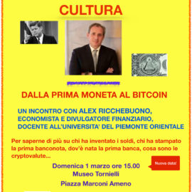 1/03/2020 | Dalla prima moneta al bitcoin – ANNULLATO