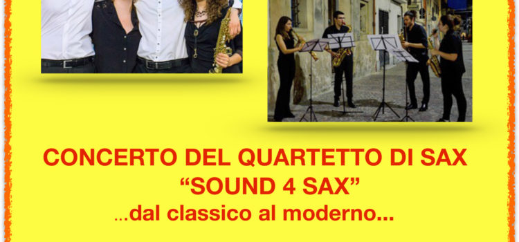 "9/02/2020 | Concerto del quartetto ""Sound 4 Sax"""