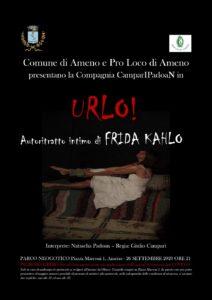 """Spettacolo teatrale: """"URLO! Autoritratto intimo di FRIDA KAHLO"""""""