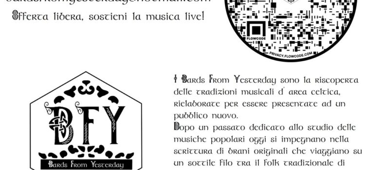 """13/06/2021   """"Bards from Yesterday"""": performance live di musica celtica"""